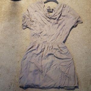 Forever 21 dove grey/khaki dress in M